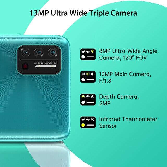 "In-Stock UMIDIGI A7S Smart Phone 6.53"" Screen 32GB 4150mAh Triple Camera Global Version Cellphone Infrared Temperature Sensor 5"