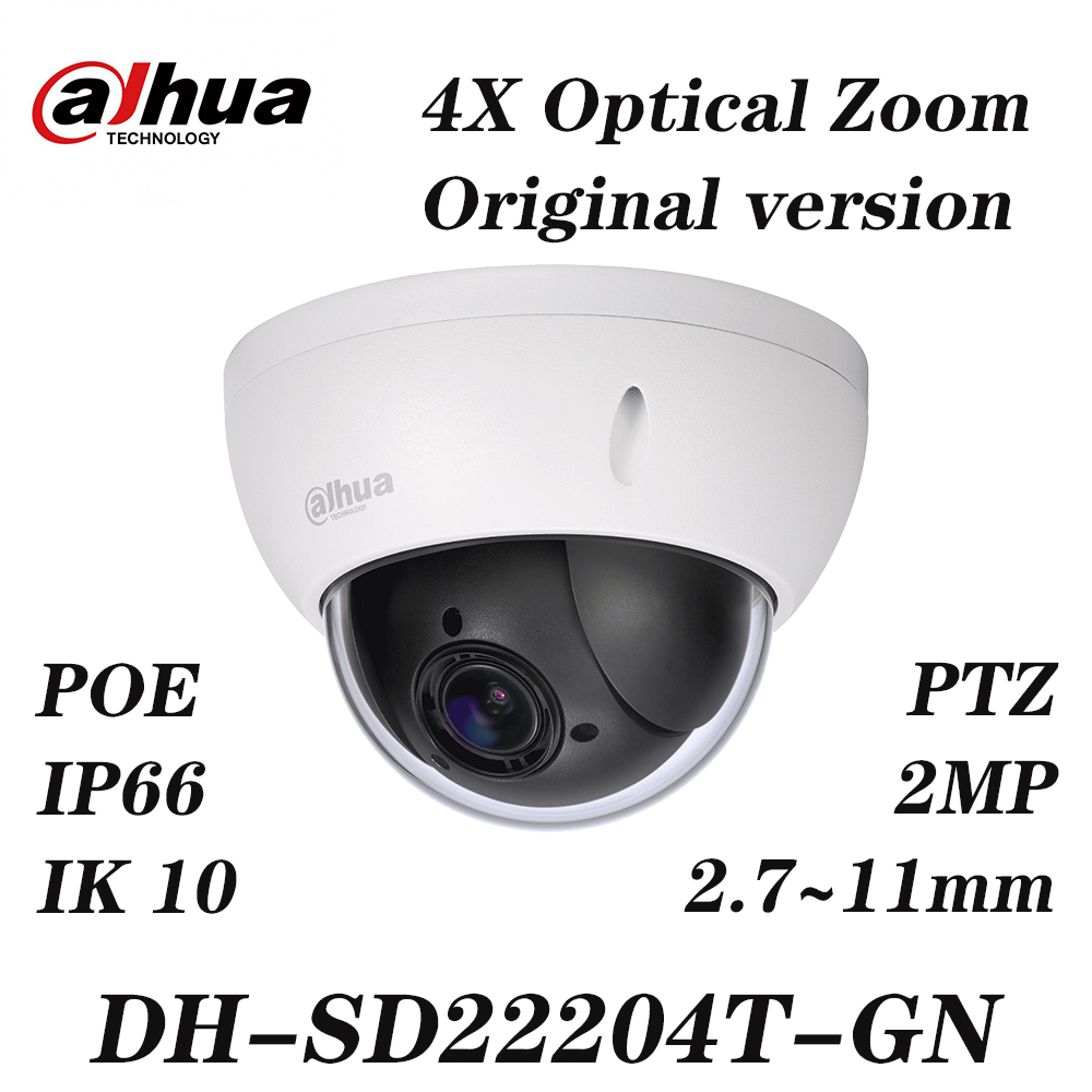 Dahua SD22204T-GN Full HD 2MP 4X Optical Zoom Mini PTZ POE IP66  Network Camera