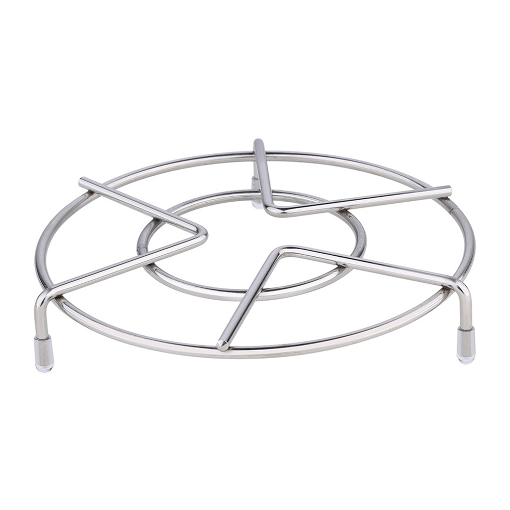 4mm 304 Stainless Steel Steaming Rack Multi-Purpose Kitchen Cookware Round Pot Steamer Rice Cooker Steam Steady Wear Resistant