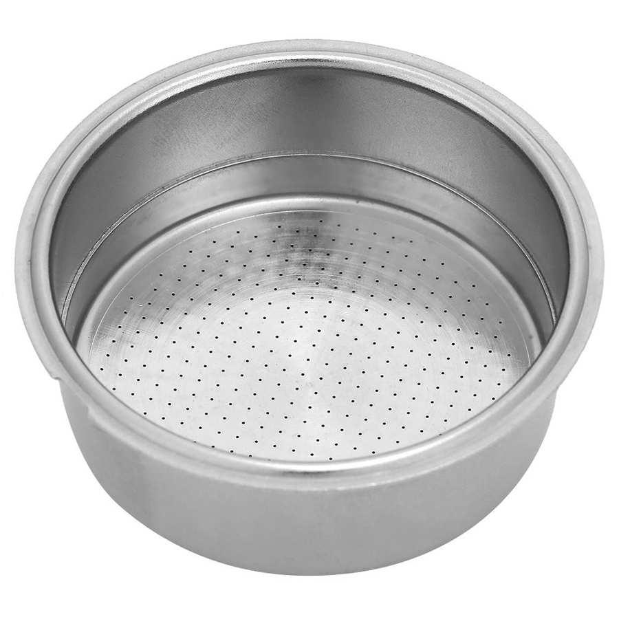 Фильтр для кофемашины 51 мм, однослойный фильтр для кофемашины из нержавеющей стали, чаша с фильтром, подходит для капсул