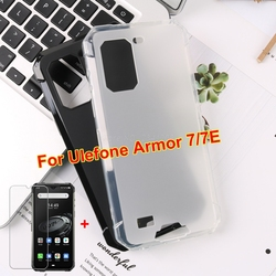 На Алиэкспресс купить стекло для смартфона for ulefone armor 7e silicone case anti-knock protection back cover with tempered glass for ulefone armor 7 6.3 screen protector