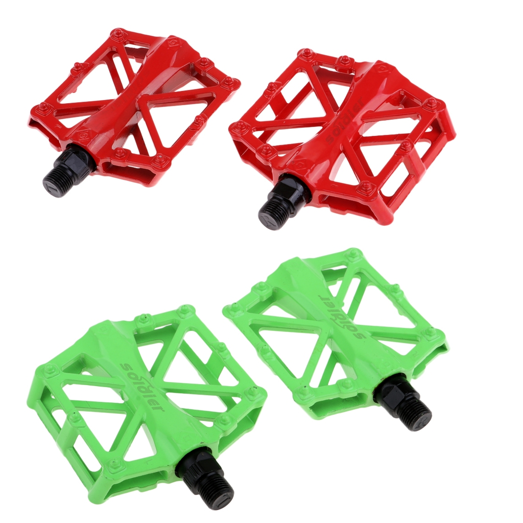 Road Mountain Bike Pedals Aluminum Alloy MTB Bicycle BMX Cycling Flat Platform