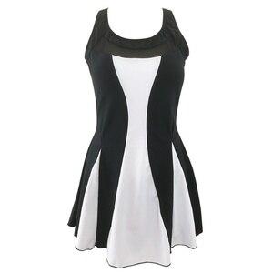 Image 5 - Tankini strój kąpielowy kobiety spódnica pływacka Plus rozmiar jednoczęściowy stroje kąpielowe z nadrukiem 2020 Tankini Femme Vintage duży rozmiar Swim Mesh Beach wear