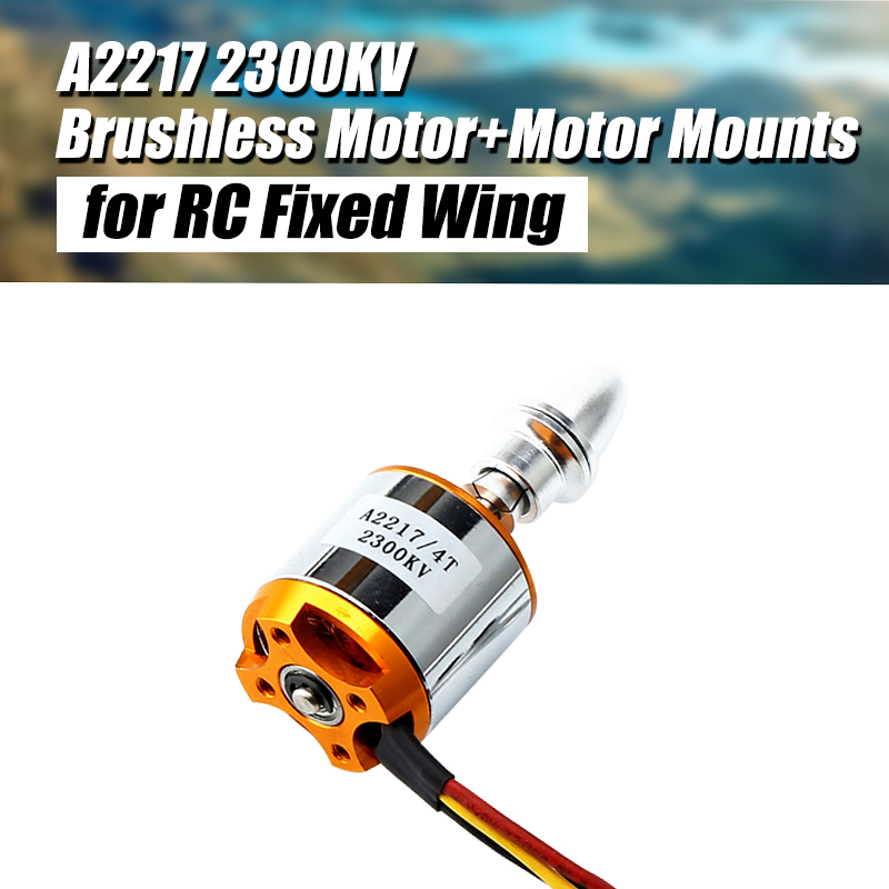 NEW A2217 <font><b>2217</b></font> 2300KV With Motor Mount Outrunner Brushless Motor For RC Fixing Wing Quadrocopter Multi-copter image