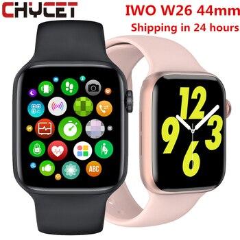 2021 original iwo w26 relógio inteligente homem/mulher freqüência cardíaca/monitor de pressão arterial relógio bluetooth chamada smartwatch para android ios 1