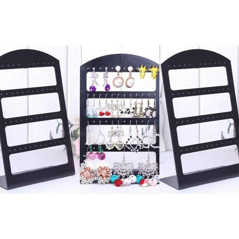 48 Holes Stud Earrings Display Showing Stand Rack Jewelry Packaging Plastic Show Organizer Storage Holder