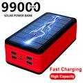 99000mAh Solar Power Bank Power Große Kapazität Tragbare Ladegerät Im Freien Wasserdichte LED Poverbank für Iphone Xiaomi Samsung