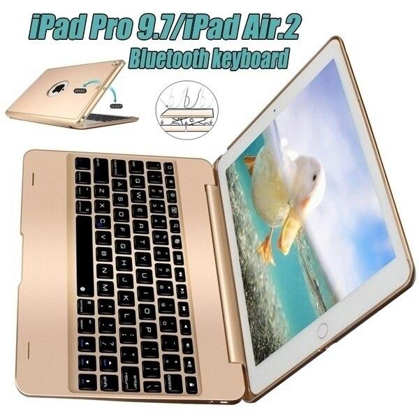 Kreative Ipad Pro 9,7 Air 2 Clavier Bluetooth Smart IPad Pro 9,7 Air 2 Tastatur Fall ABS Stand (Farbe: blackSilverGoldRose Gold)
