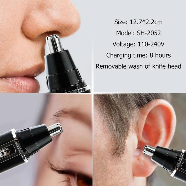 4 in 1 Nose Hair Trimmer Epilator Rechargeable Eyebrow Beard Shaver Razor Kit Face Care Tools 5