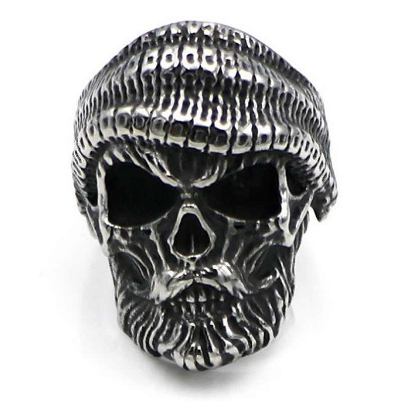 פאנק היפ הופ זהב תכשיטי קר גולגולת טבעות לגברים חדש הגעה קריסטל CZ טבעת גברים באיכות גבוהה בלינג טבעת