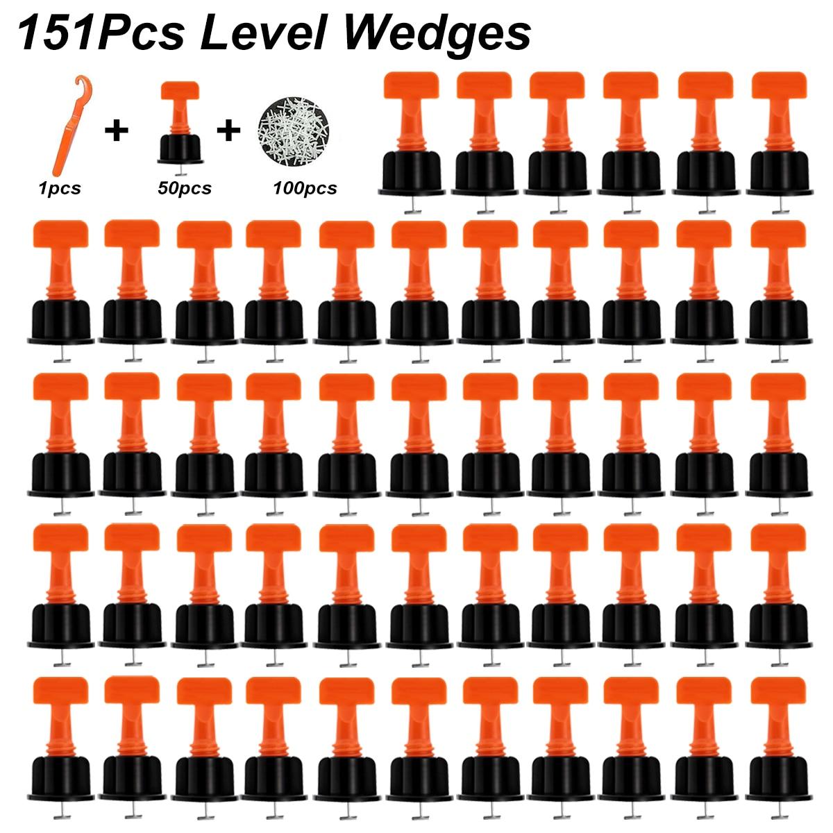 151Pcs Level Wedges Tile Spacers For Flooring Wall Tile Spacer Carrelage Tile Leveling System Leveler Locator Spacers Plier