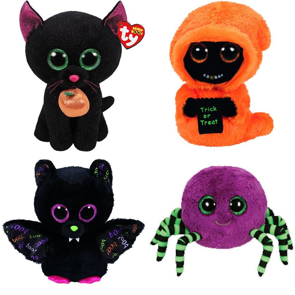 Ty Animals Halloween Series Toys Bat Spider Cat Mummy Reaper Animal Stuffed  & Plush Animals  - AliExpress