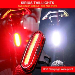 Велосипедный светильник, водонепроницаемый велосипедный задний светильник, USB Перезаряжаемый горный задний фонарь, велосипедный Предупре...