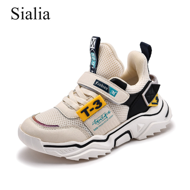 Sialia Children Casual Shoes For Kids Sneakers Boys Shoes Girls Sneakers Breathable Mesh Running Sport Fashion Tenis Infantil