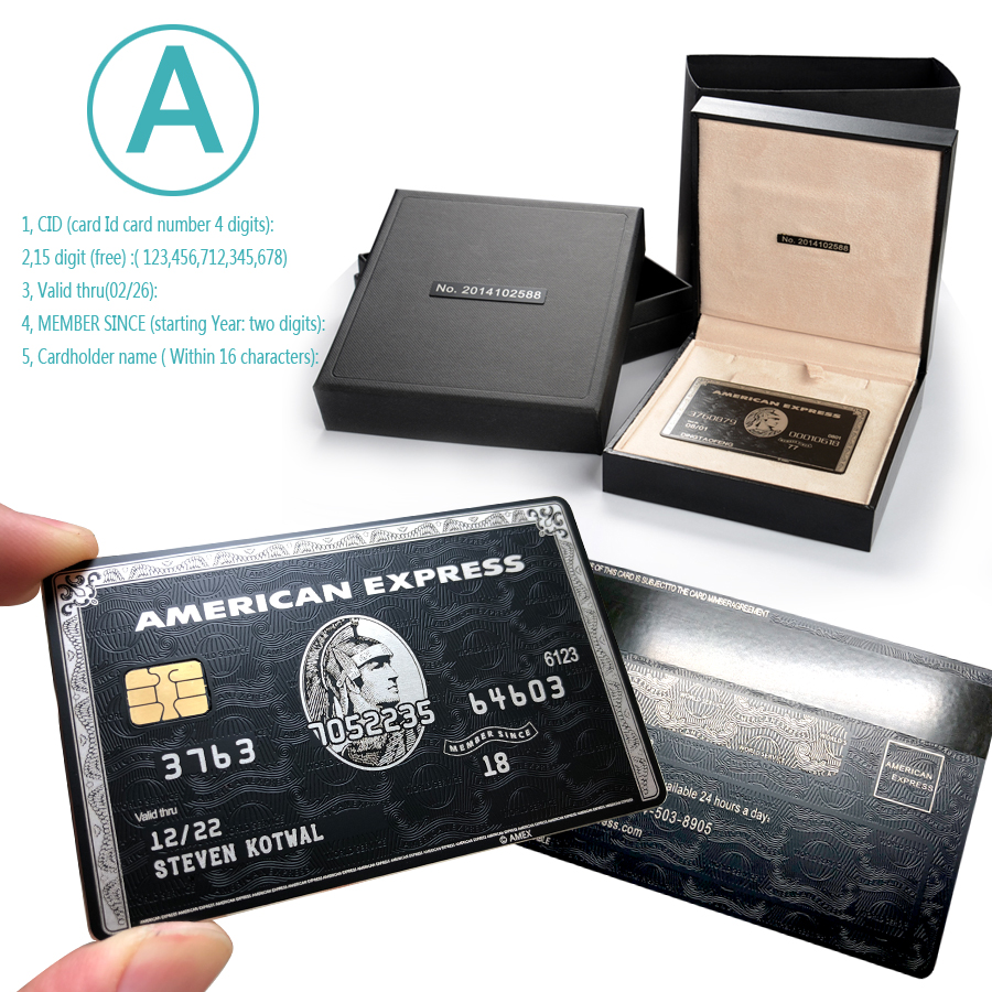 Black Gold Centurion Card Gift Card Personality Card Metal Card Stainless Steel Card Customization