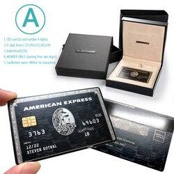 Tarjeta de regalo Centurión de oro negro, tarjeta de personalidad, tarjeta de Metal, tarjeta de acero inoxidable personalizada