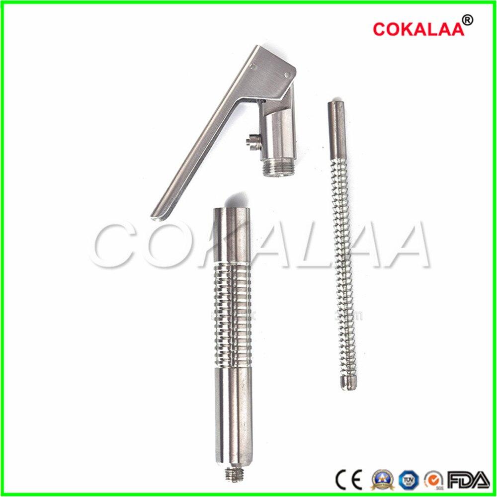 Стоматологический шприц для отсасывания стоматологических хирургических инструментов прямая изогнутая Альтернативная нержавеющая сталь