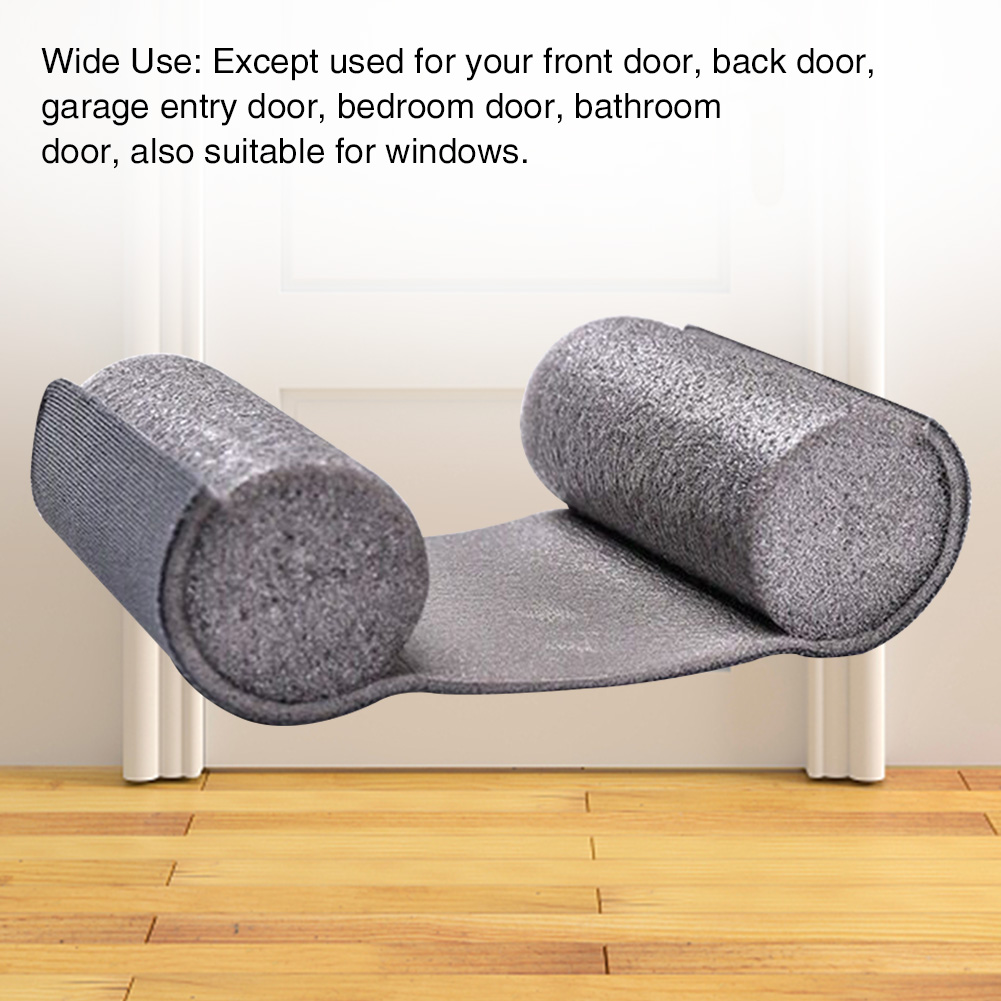 Window Soundproof Noise Reduction Bottom Sealing Strip Tight Blocker Door Draft Stopper Insulator Anti-Dust Protector Windproof