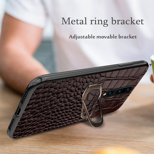 Image 4 - Genuine Leather Ring bracket Magnetic phone case for oneplus 7 7pro 6 6T Luxury cover for One plus 7 7t pro 5 5t case Fundas