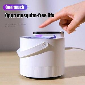Image 1 - Yeni fotokatalist sivrisinek kovucu böcek Killer lamba tuzak UV akıllı ışık sivrisinek katili lamba USB elektrik