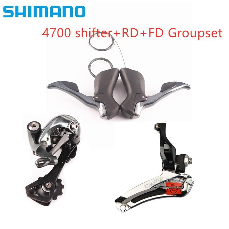SHIMANO <font><b>TIAGRA</b></font> <font><b>4700</b></font> 2x10 Speed <font><b>Groupset</b></font> Kit Shifter Front+Rear SS / GS Derailleur image