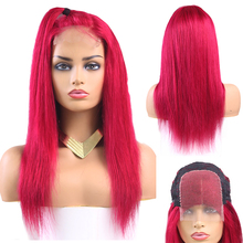 99J/Burgundy Lace Closure Wig Brazilian Straight Remy Frontal Human Hair Wigs KEMY HAIR Pre Plucked For Women