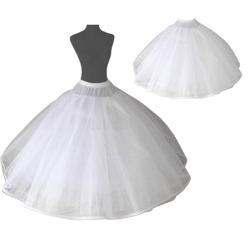 Womens 8 Layers Tulle Ball Gown Bridal Wedding Dress Petticoat With No Rings Evening Prom Crinoline Half Slip Puffy Underskirt