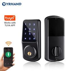 Wifi Keyless Veilige Toetsenbord Afstandsbediening Nachtschoot Elektronische Digitale Smart Deurslot Met Tuya App