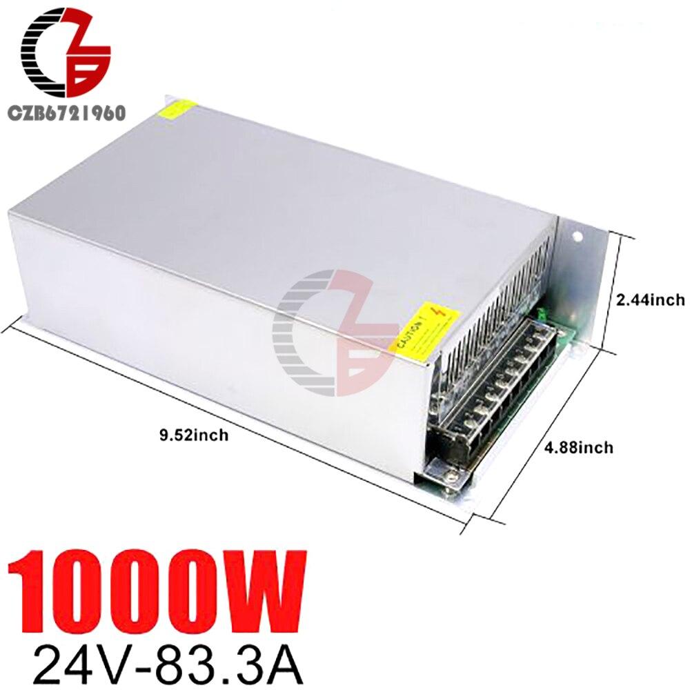 24V alimentation à découpage 41.6A 1000W AC à DC LED bande d'alimentation adaptateur transformateur alimentation LED alimentation régulateur de tension