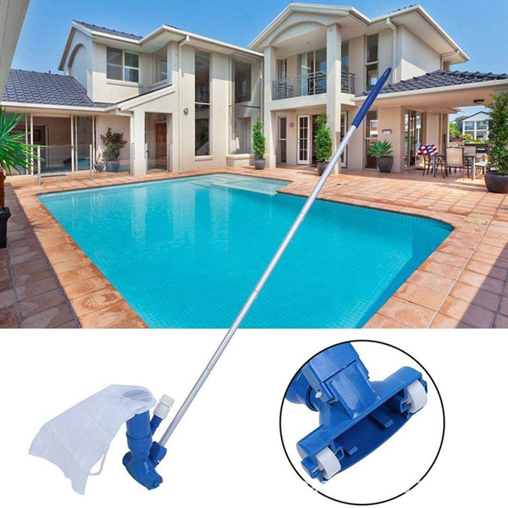 Portable piscine étang source chaude piscine fontaine nettoyeur tête d'aspiration étang nettoyage feuille écumeur maille ensemble outil de nettoyage