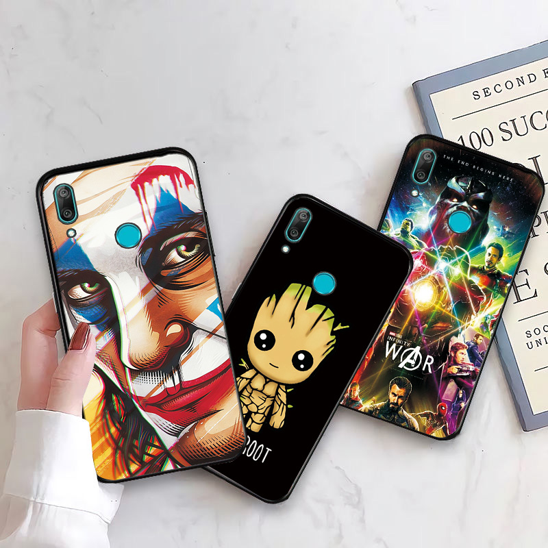 Phone <font><b>Case</b></font> <font><b>For</b></font> <font><b>Huawei</b></font> <font><b>Y6</b></font> 2019 <font><b>Cover</b></font> Marvel Heroes <font><b>Huawei</b></font> <font><b>Y6</b></font> <font><b>Prime</b></font> <font><b>2018</b></font> Black TPU <font><b>Case</b></font> <font><b>For</b></font> <font><b>Huawei</b></font> <font><b>Y6</b></font> 2017 <font><b>Y6</b></font> <font><b>2018</b></font> Back <font><b>Cover</b></font> image