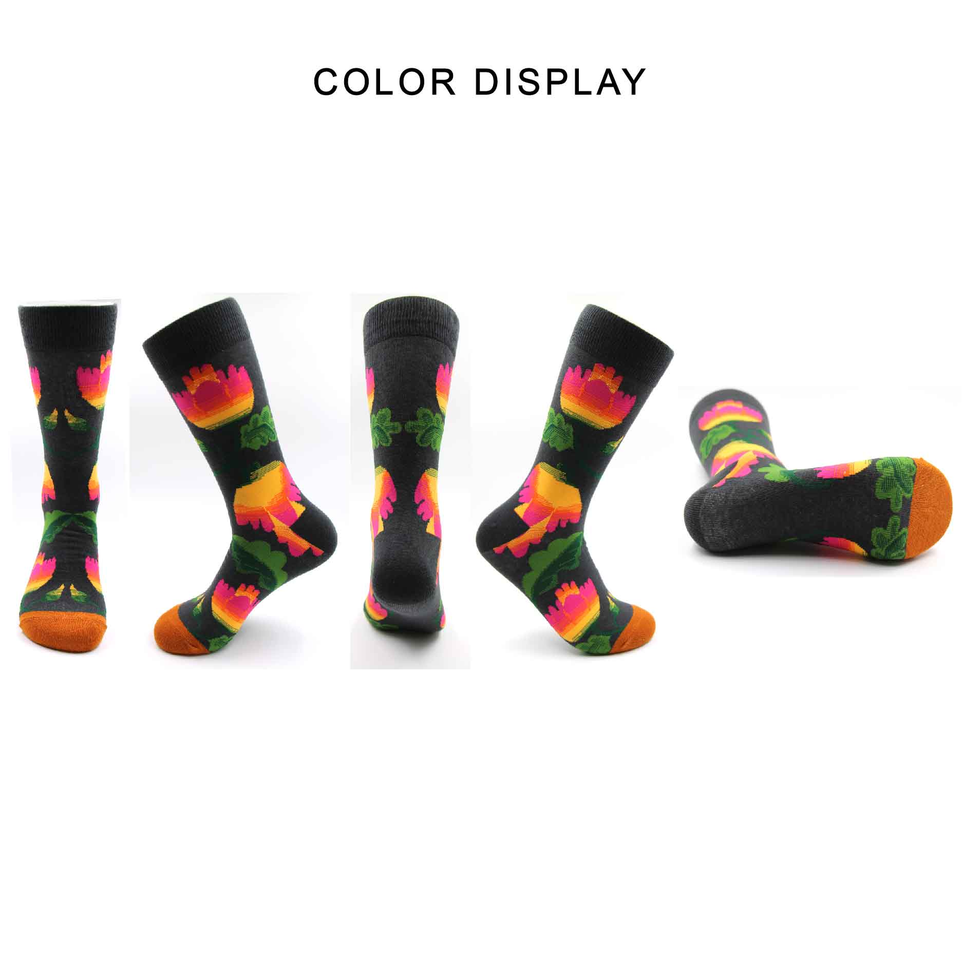 2019Novelty gift tidal current Couple cotton stocks hip hop personality happy effect casual fashion style floral pattern in Men 39 s Socks from Underwear amp Sleepwears