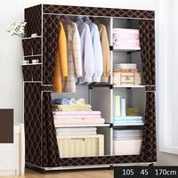 Bedroom Furniture Wardrobe Cloth Locker Home Furniture Bedroom Cabinet Zipper Simple 1pcs Multi functional Storage JC045 Simple