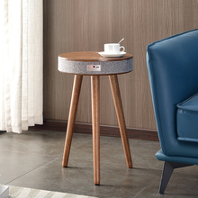 Bluetooth Smart Coffee Table Living Room Inductive Wireless Charging Table Wooden 3D Surround Music Round Tea Table Solid Wood