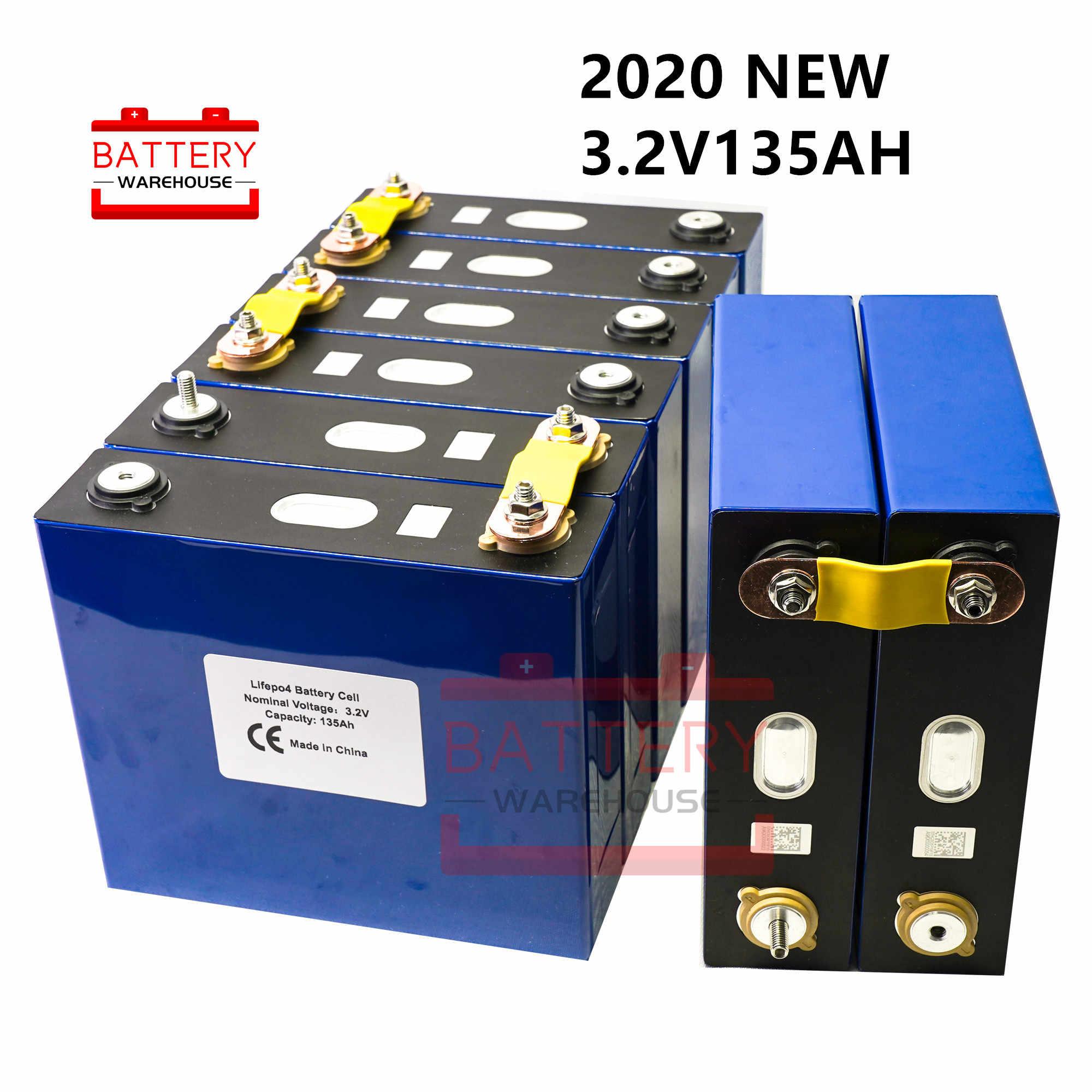 """2020 החדש 4Pcs 3.2v 120AH 135AH Lifepo4 סוללה ליתיום ברזל פוספט תא סוללות 12v 24V לא 150AH עבור שמש האיחוד האירופי ארה""""ב מס משלוח"""