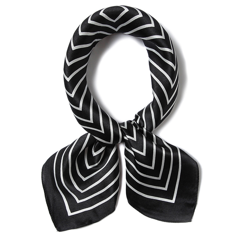 Women's Handkerchief, Top Grade Oriental Silk Square Scarf, Silk Printed Silk Scarf For Women, 52 * 52cm