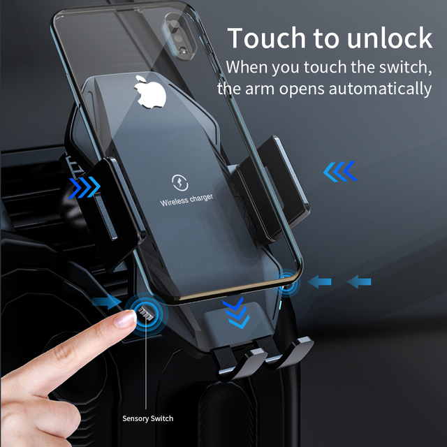 NTONPOWER Qi Wireless Car Charger 10W Fast Charging for iPhone 11 XS X 8 Intelligent Infrared Car Wireless Charger Phone Holder 1
