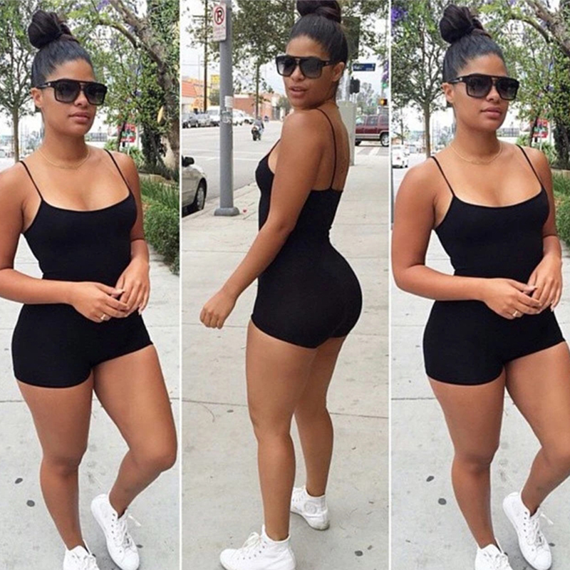 2019 Lady Jumpsuit Plus Size And Rompers For Women,Sexy Condole Super Short Playsuits XS-XXXL Summer Solid Shorts