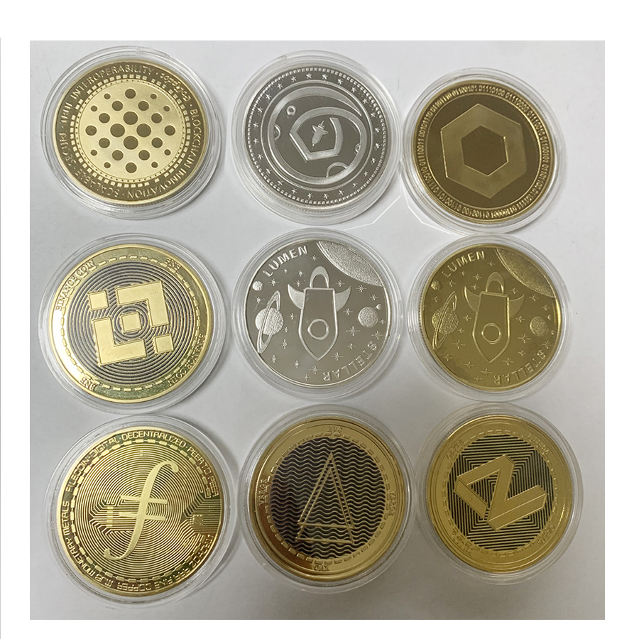 1 pc New Plated Bitcoin Coin BTC Litecoin Ripple Cryptocurrency Metal Commemoration Coin Gold or Silver old coins 1