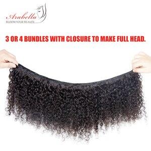 Image 3 - Splecione kręcone włosy wiązki 1/3 wiązki naturalny kolor Remy 100% doczepy z ludzkich włosów Arabella podwójne pasma włosów wiązki