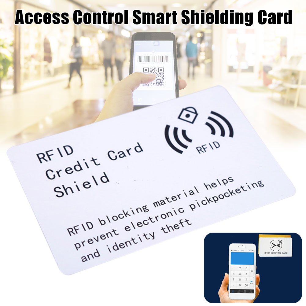 Protective Practical NFC Shielding Card Pick Pocket Smart Portable Thin Module Anti Theft Blocking High Frequency Access Control