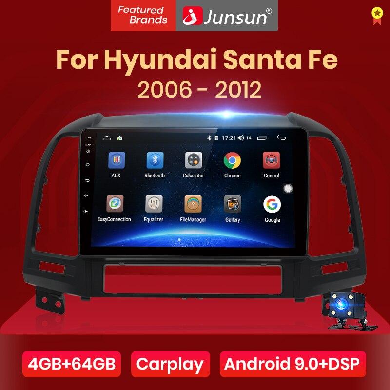 Мультимедийная магнитола Junsun V1 pro для Hyundai Santa Fe, мультимедийная стерео система на Android 10, 4 Гб ОЗУ, 64 Гб ПЗУ, с GPS Навигатором, типоразмер 2 Din, для Hyundai Santa Fe 2, 2006 2012|Мультимедиаплеер для авто|   | АлиЭкспресс