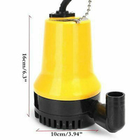 1x DC 12V 50W Submersible Water Pump 4500L/H Clean Dirty Pool Pond Flood Parts