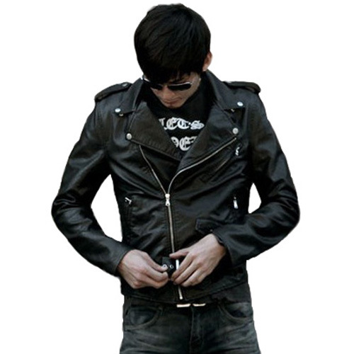 Spring And Autumn Winter Korean-style Men's Leather Jacket Slim Fit Locomotive Pu Washing Leather Coat MEN'S Outerwear