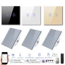 Wifi Touch-Switch Voice-Control Tuya Amazon Alexa Wall-Light Smart-Life Google Home Standard