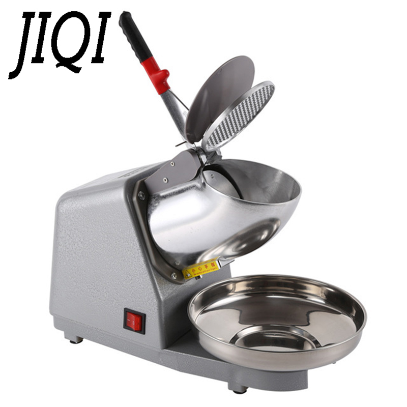 JIQI 110V/220V Electric Ice Crusher Smoothie Shaver Snow Cone Ice Block Breaking Grinder Machine Commercial Ice Slush Sand Maker