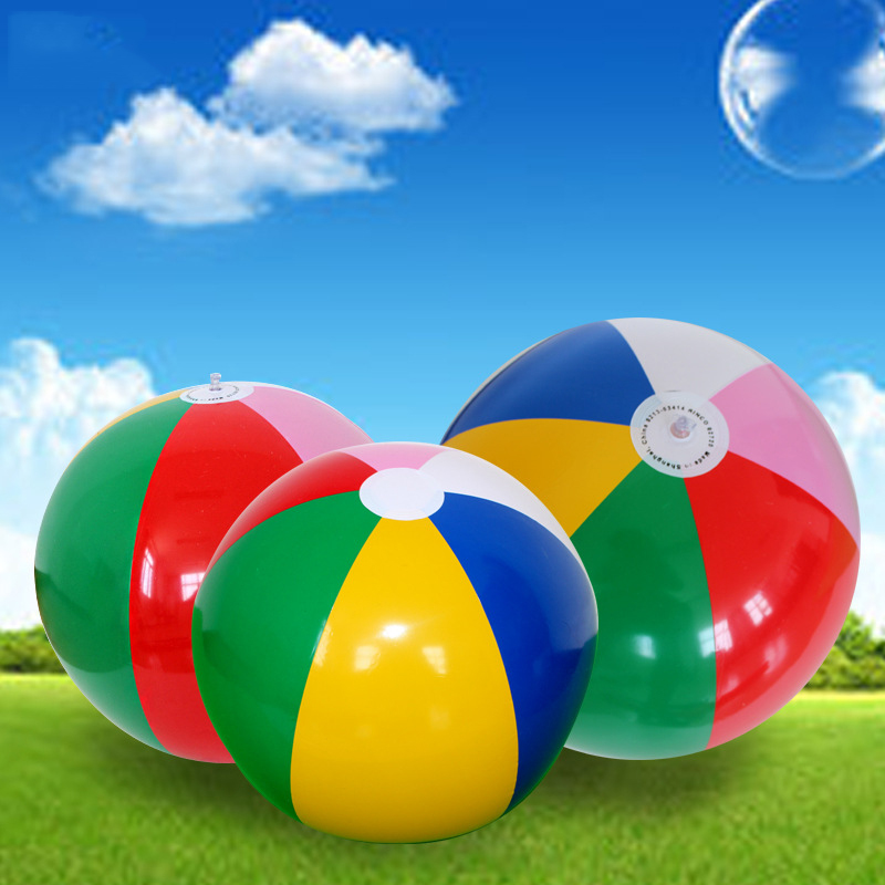 3pieces Charm Colorful Inflatable Beach Ball 40cm Outdoor Play Games Balloon Children Giant Volleyball PVC Pool & Accessorie