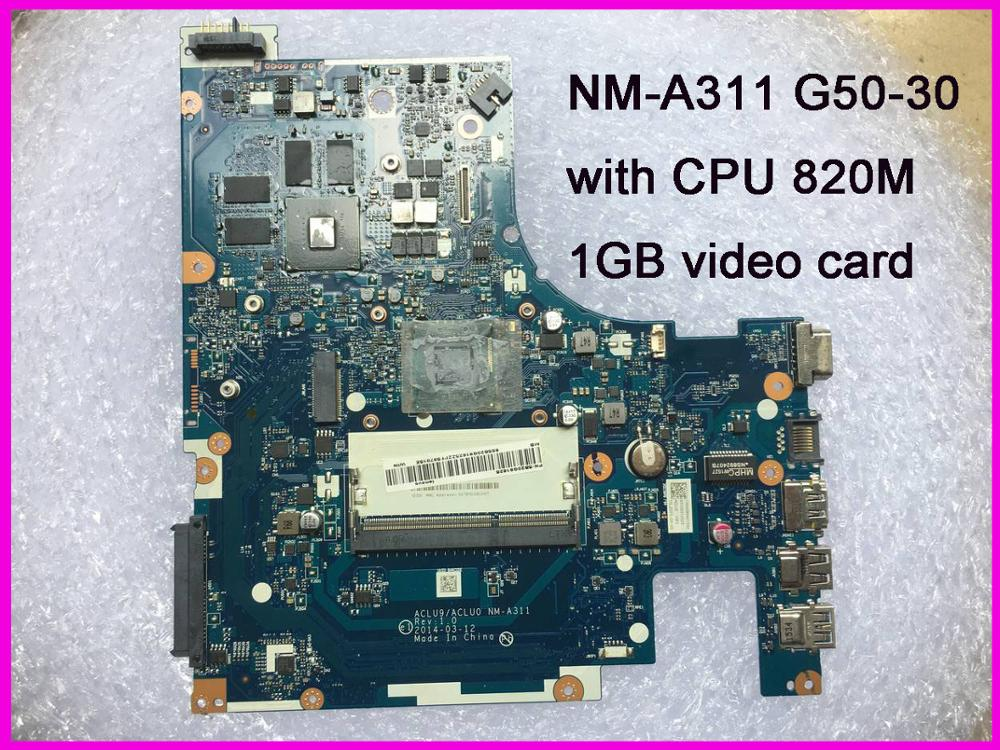 ACLU9/ACLU0 <font><b>NM</b></font>-<font><b>A311</b></font> for Lenovo G50-30 laptop Motherboard 1GB tested 100% work image