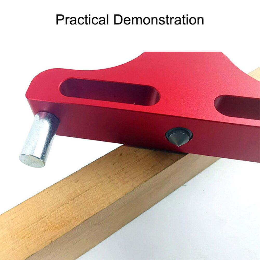 Aluminum Woodworking Center Finder Line Measuring Marking Gauge Scriber Logging Tool Woodworking