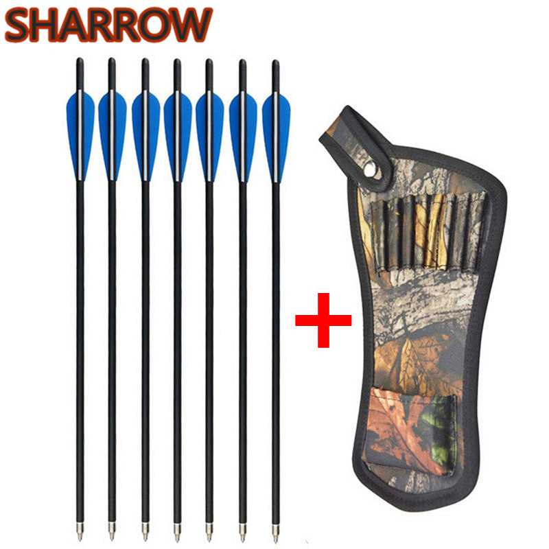 """Carbon Arrows 22/"""" Crossbow Bolts Hunting Crossbow Archery Shooting Dead Strike"""